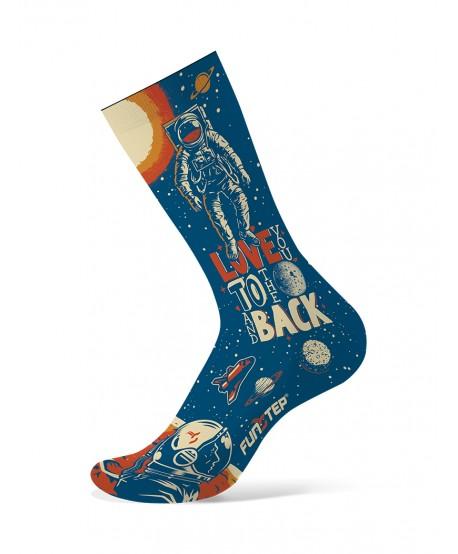 Calcetines divertidos astronauta