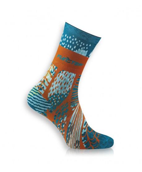 Funny green / orange socks