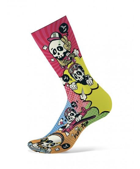Pink / yellow patterned socks
