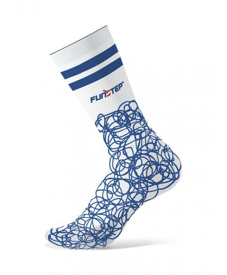 Calcetines con dibujos blanco/azul