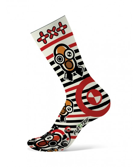 Calcetines divertidos rojo/negro