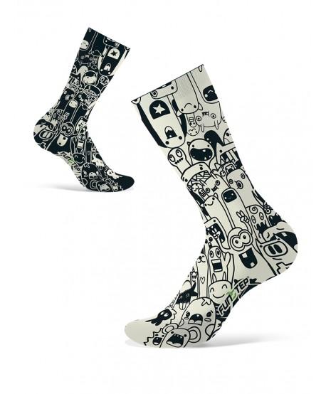 Funny black / white socks