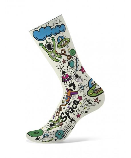 Funny socks white / blue