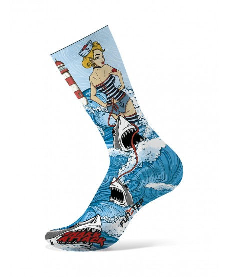 copy of Turquoise / gray patterned socks